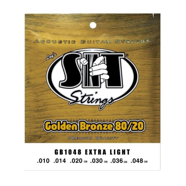 SIT GB1048 EXTRA LIGHT GOLDEN BRONZE 80/20 ACOUSTIC