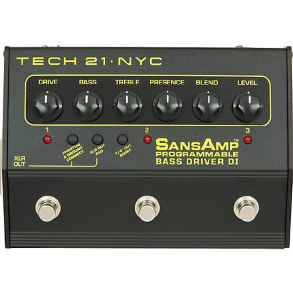 Tech 21 Sansamp 3 Channel Bass Driver